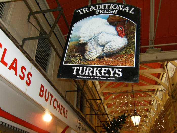 Traditional Fresh Turkeys at Oxford Covered Market
