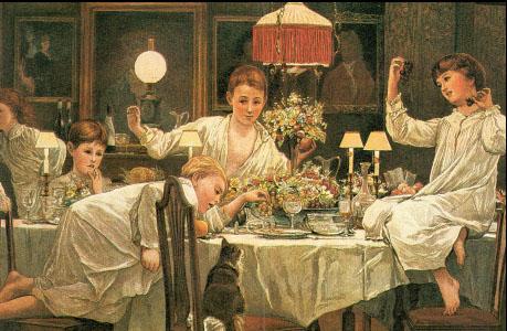 Christmas Dinner Scene