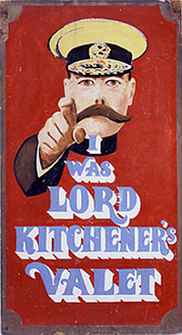 I was Lord Kitchener's Valet - Not the same guy...