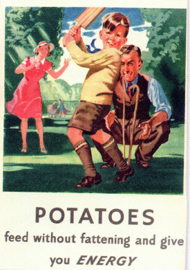 Potatoes feed without fattening and give you energy.