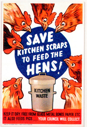Save kitchen scraps to feed the hens!