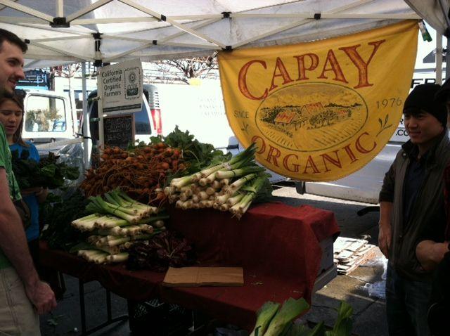 Leeks and Radishes at Capay Organic